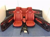 BMW m4 f82 interior seats set complete in red bucket type