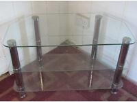 TV stand/corner table glass