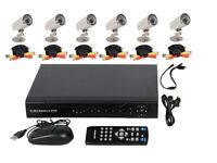 8 Channel CCTV DVR Security Camera System INCLUDES 8 cameras, cables, PSU, 2TB Hard Drive BRAND NEW