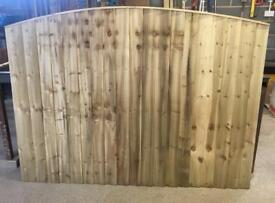 💫Excellent Quality Arch Top Feather Edge New Fence Panels • HeavyDuty