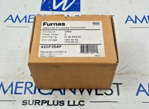 NEW Furnas 42DF35AF Definite Purpose Controller 3 Pole 50A 110/120V Coil