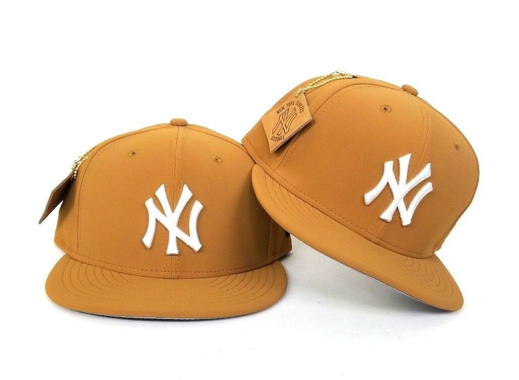 New Era Timberland Tan color New York Yankees 59Fifty Fitted hat Cap ... 444e6f7ac97