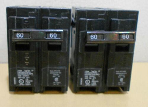 Lot of 2 New SIEMENS Q260 60 AMP 2 POLE CIRCUIT BREAKERS