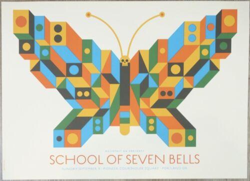 2012 School of Seven Bells - Portland Silkscreen Concert Poster by Dan Stiles