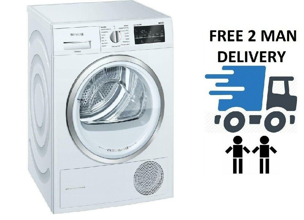 Siemens WT45W492GB 9kg A++ Energy Heat Pump White Tumble Dryer + 5 Year Warranty