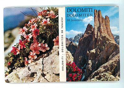 DOLOMITI 38 VEDUTE A COLORI FOTOCOLOR SOUVENIR ANNI '70