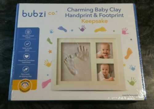 Bubzi Co Clay Handprint Footprint Photo Frame Kit For Baby Infant Girls & Boys O