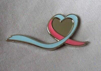 Blue & Pink Infant and Pregnancy Loss Awareness ribbon enamel badge / brooch.](Pregnancy And Infant Loss Ribbon)