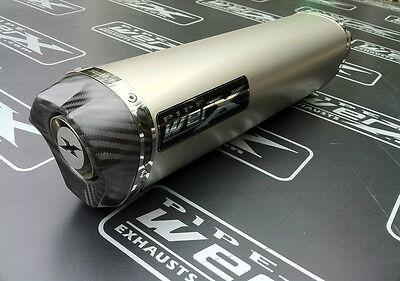 Triumph 1200 Trophy 2012 + Titanium Tri Oval Carbon Outlet Exhaust Silencer SL