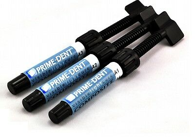 1 X Prime-dent A1 4.5 G Light Cure Hybrid Dental Resin Composite Syringe A1