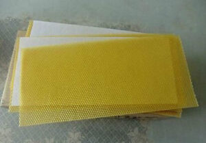 10 Sheets of Beeswax foundation-Perfect for Candle rolling-100% natural Beeswax