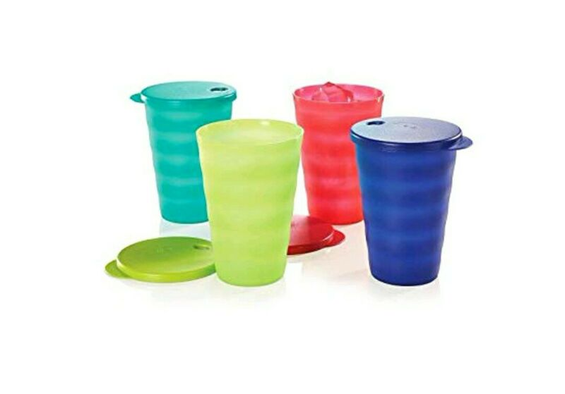 New TUPPERWARE Impressions 16oz Tumblers With Liquid-Tight Seals FREE US SHIP