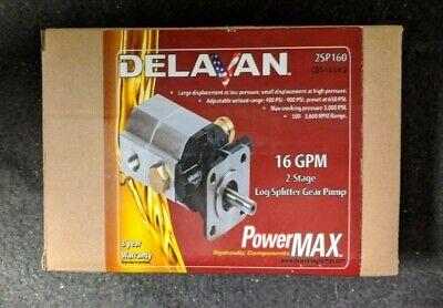 Delavan 16gpm 2-stage Log Splitter Gear Pump 2sp160 Brand New