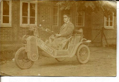 1911 GERMAN MOTORCYCLE REAL PHOTO POST CARD - UNUSED - RARE