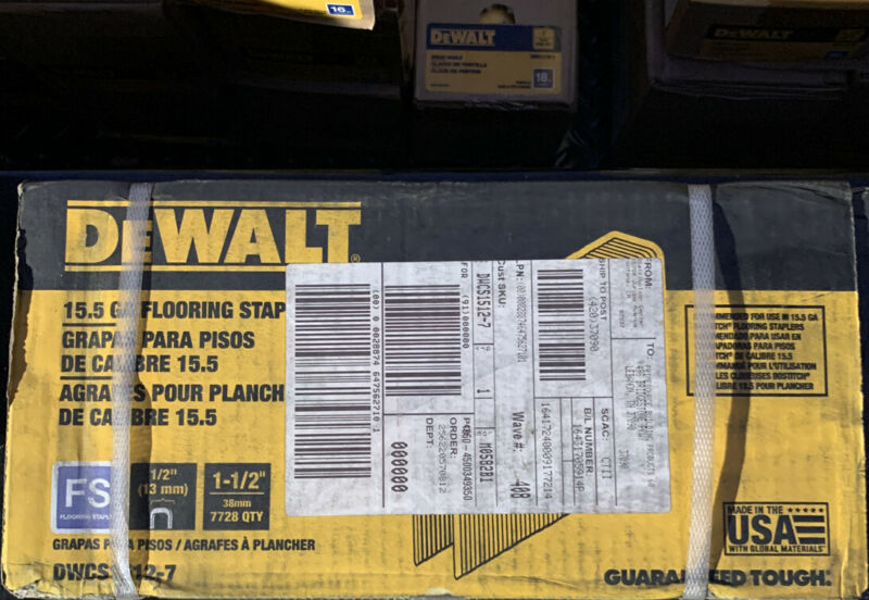 DEWALT 1.5 In Crown 15.5 Gauge Coated Steel Hardwood Flooring Staples DWCS1512-7