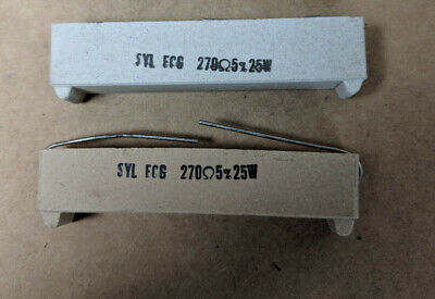 Syl Ecg 270 Ohm 25w 5 Cement Resistor Lot Of 2pcs