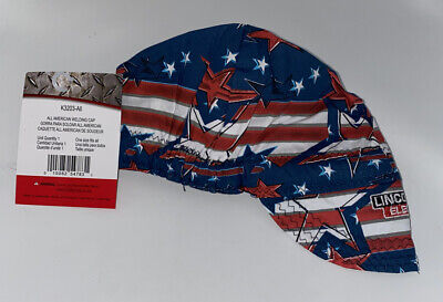 Lincoln K3203-all All American Welding Cap Red White Blues K3203 Ship Free