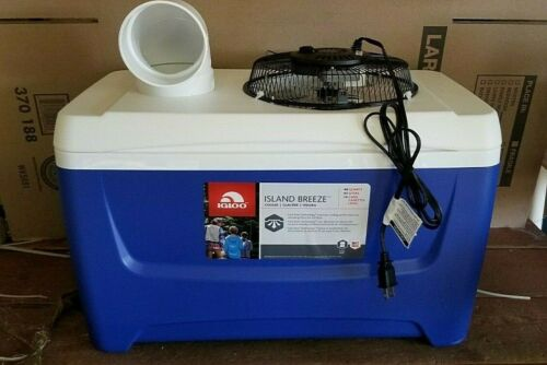 Onos XLG NEW 48qt BLUE Portable Swamp Cooler Air Conditioner Home Camping 110v