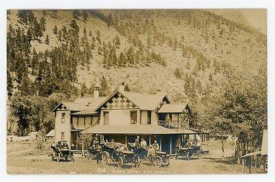 Colorado. FORKS HOTEL. Real Photo Postcard. F.P. Clatworthy, Estes Park