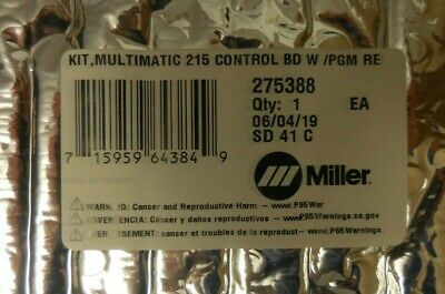 Miller Electric 275388 Kit Multimatic Control Board W Pgm Replacement