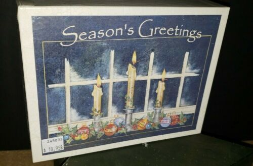 THREE CANDLES Lang Boxed Christmas Cards NIB Ellen Stouffer Design
