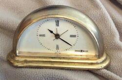 Vintage    Howard Miller    Mini Small Clock   Mantle Desk   Gold