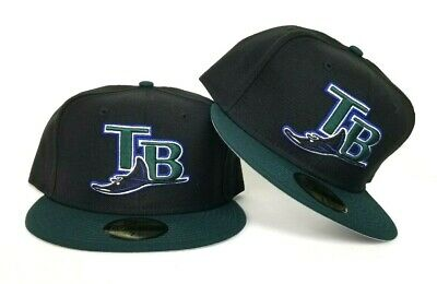 New Era Black Green Tampa Bay Rays Official On-field Gray Bottom Fitted Hat -