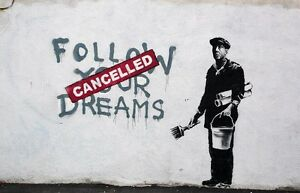BANKSY-ART-POSTER-PRINT-A3-SIZE-FOLLOW-YOUR-DREAMS