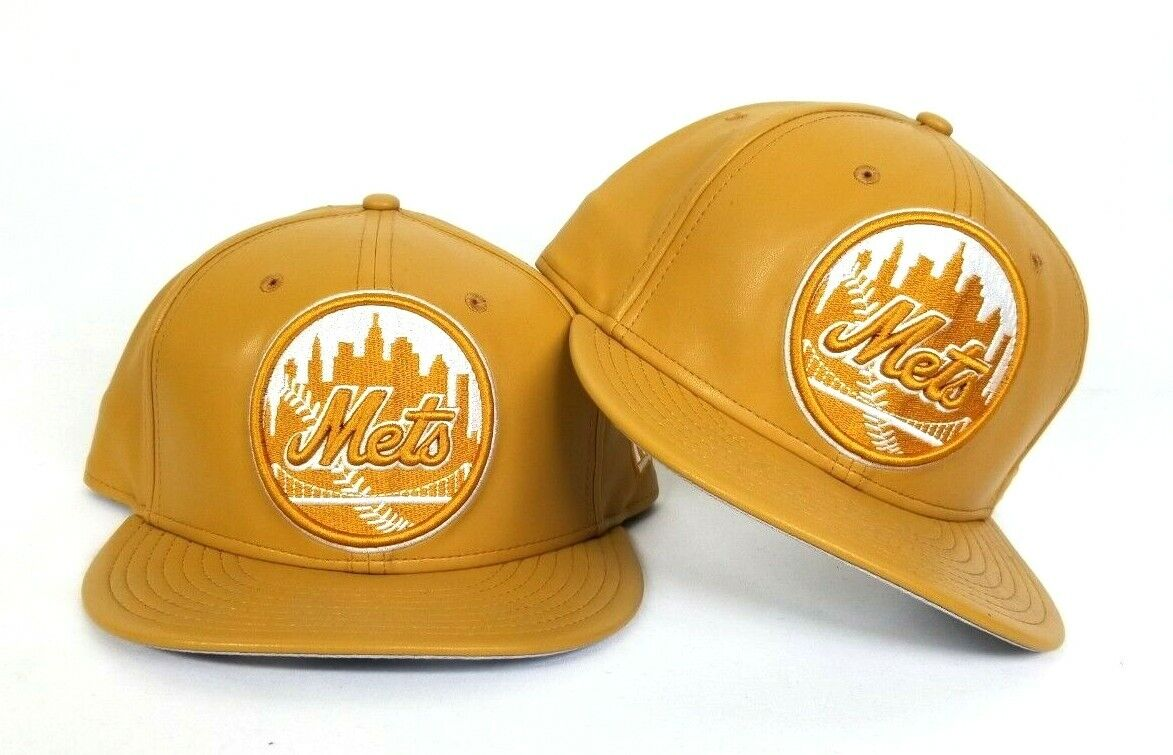 69cda5abdea New Era Wheat Leather New York Mets 9fifty Snapback Hat