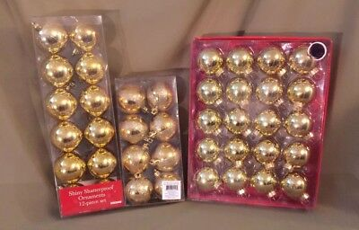 Lot of Gold Christmas Ornaments! Brand new in package! Free Shipping!