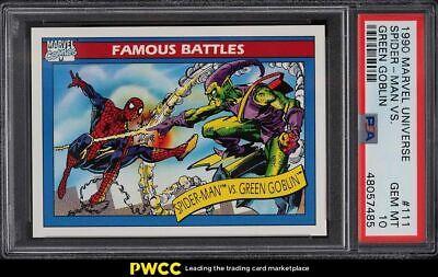 1990 Marvel Universe Green Goblin Vs. Spider-Man 111 PSA 10 GEM MINT - $260.00