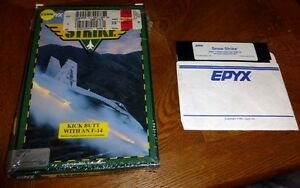 Commodore-64-128-SNOW-STRIKE-Boxed-C64-TESTED-Complete-EPYX