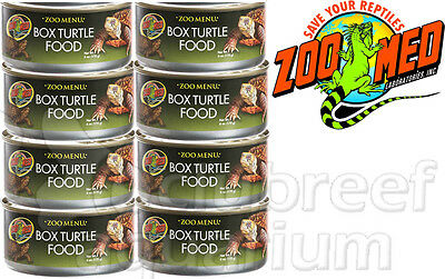 8 Pack Zoo Menu Canned Box Turtle Food 6oz Wet Corn/Apple (Box Turtle Canned Food)