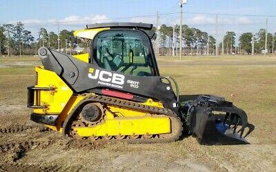 2012 Jcb 320t Skid Steer Track Loader 92hp Erops Single Owner Forestry Package