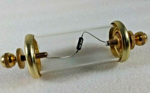 Cats Whisker Crystal Radio Detector D507A Pulse Diode in Glass Capsule and Brass