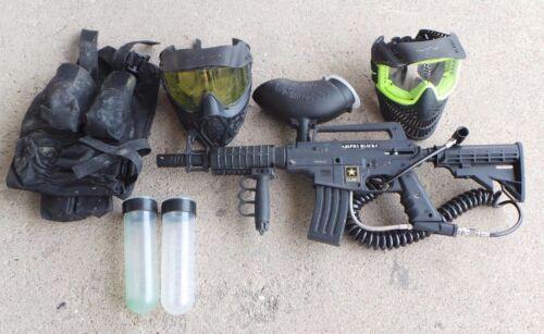 Tippmann US Army Alpha Black Tactical  Paintball Gun Package Kit 105104-1 (KO)