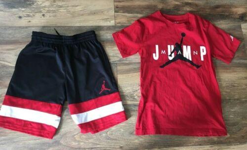 Boys Nike Jordan Shirt Shorts Set Size M 10