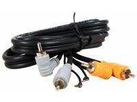 Earth Wire Deck Lead 1M Hosa CRA-201DJ DJ Mixer Turntable Cable Dual RCA Phono