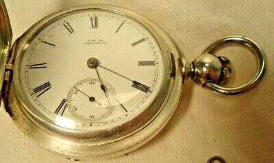 Waltham /1877/ Grade Wm.Ellery 18s/ 11J Pocket Watch Dueber Coin Case Key Wind