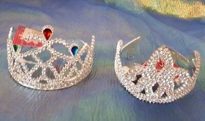 Diadem silber sortiert Krone Fee Prinzessin Kostüm Zubehör Fasching (Kostüm Krone Diadem)