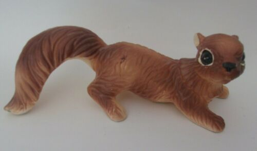 "Vintage large Ceramic Squirrels Climber Tree Wall Figurine Japan 9.5"" long"
