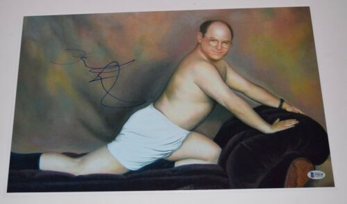 Jason Alexander Signed Seinfeld The Art of Seduction 13x19 Photo Poster BAS COA