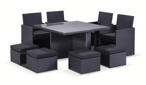 Wicker Outdoor Furniture Dining Table with Chairs Patio Pool Set Terrey Hills Warringah Area Preview