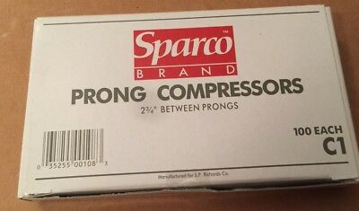 Compressors For File And Paper Fastener Prong Bases 2-34 Inch Center 100box