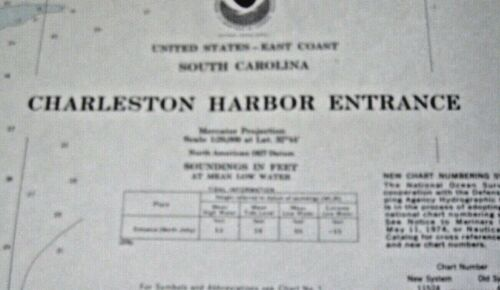 NAVIGATIONAL MAP - CHARLESTON HARBOR ENTRANCE - SC- # 11523