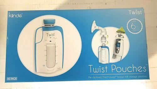 Kiinde Breast Milk Storage Twist Pouch- 6 oz - Pack of 80 New Sealed Fast Ship