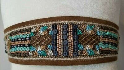 CHICO'S BEADED TURQUOISE BELT Turquoise Beaded Belt
