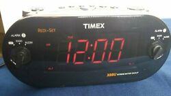 Timex XBBU Redi-Set Dual Alarm Clock Radio AMFM Large Digital Display T715