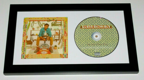 GLASS ANIMALS BAND SIGNED FRAMED HOW TO BE A HUMAN BEING CD COVER w/COA ALBUM