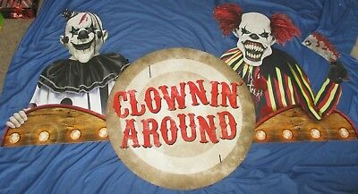 CLOWNING AROUND Spirit Halloween Store Exclusive Promo Display Sign EVIL CLOWN](Halloween Store Displays)